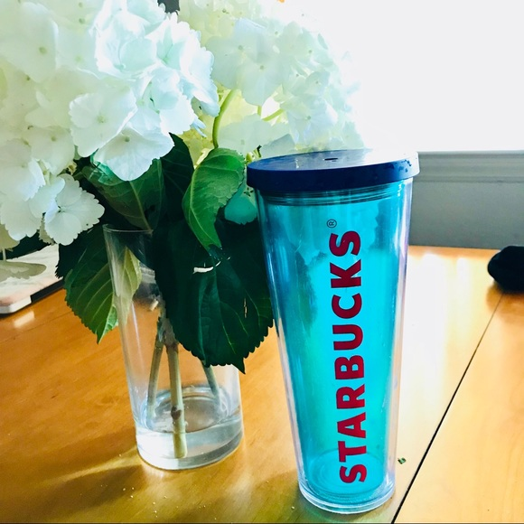 Other - Starbucks Clear Teal Double Insulated Cold Tumbler